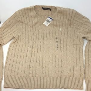 Polo Ralph Lauren Women's Cable Knit Crew Sweater